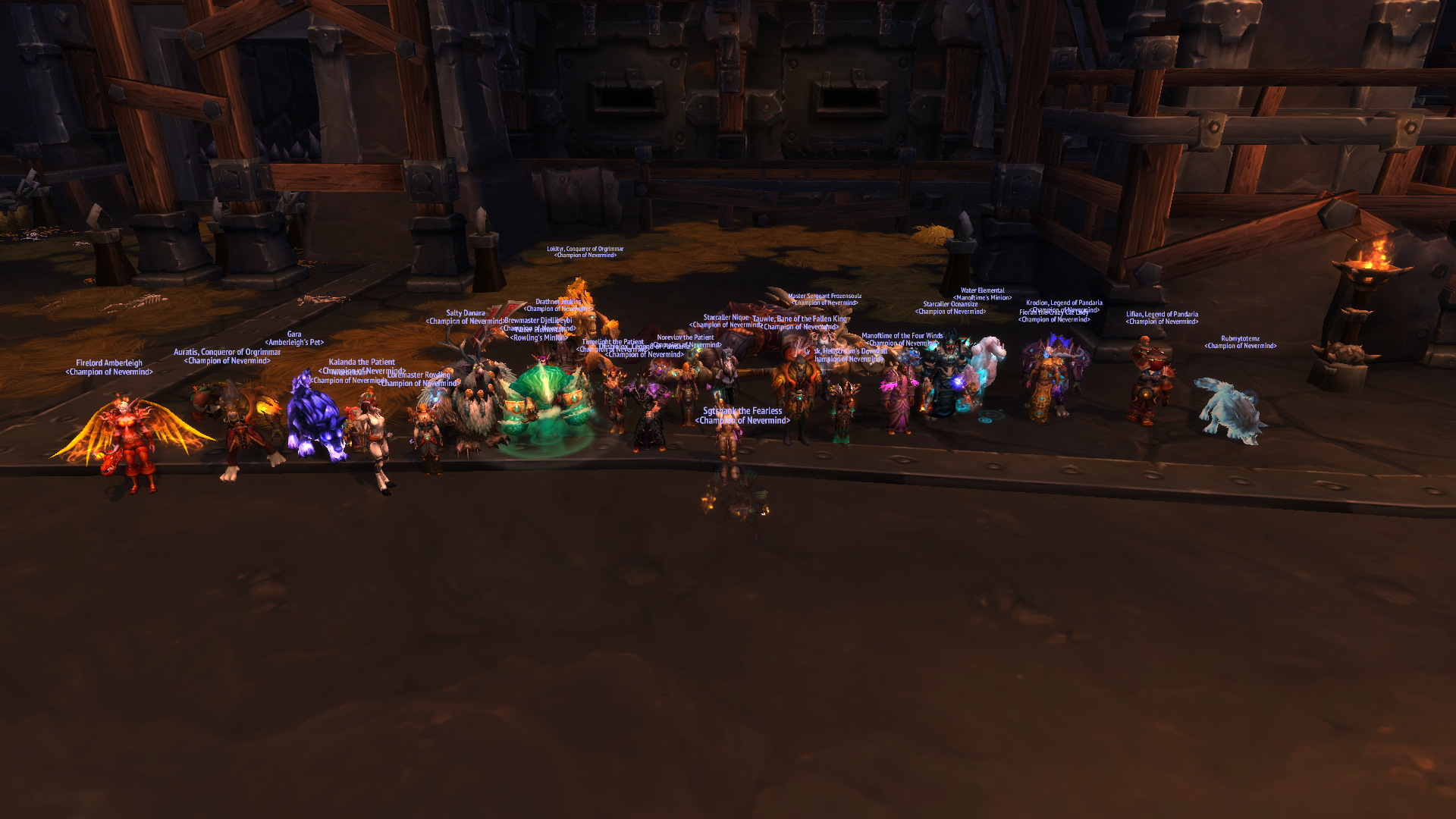 With the combined strengt of both teams Beastlord Darmac quickly ran out of beasts to summon…