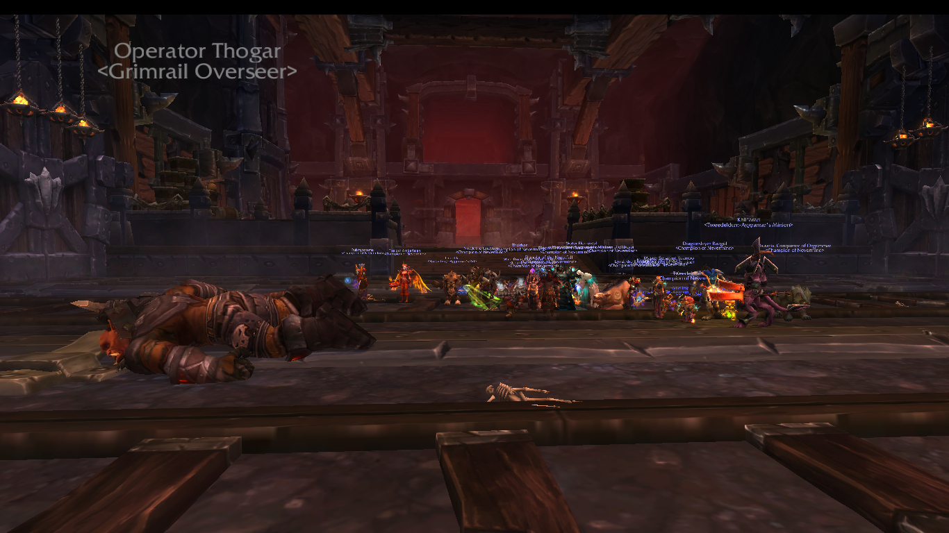 All aboard! Dysfunctional: 1, Trains: 0. Operator Thogar Down.