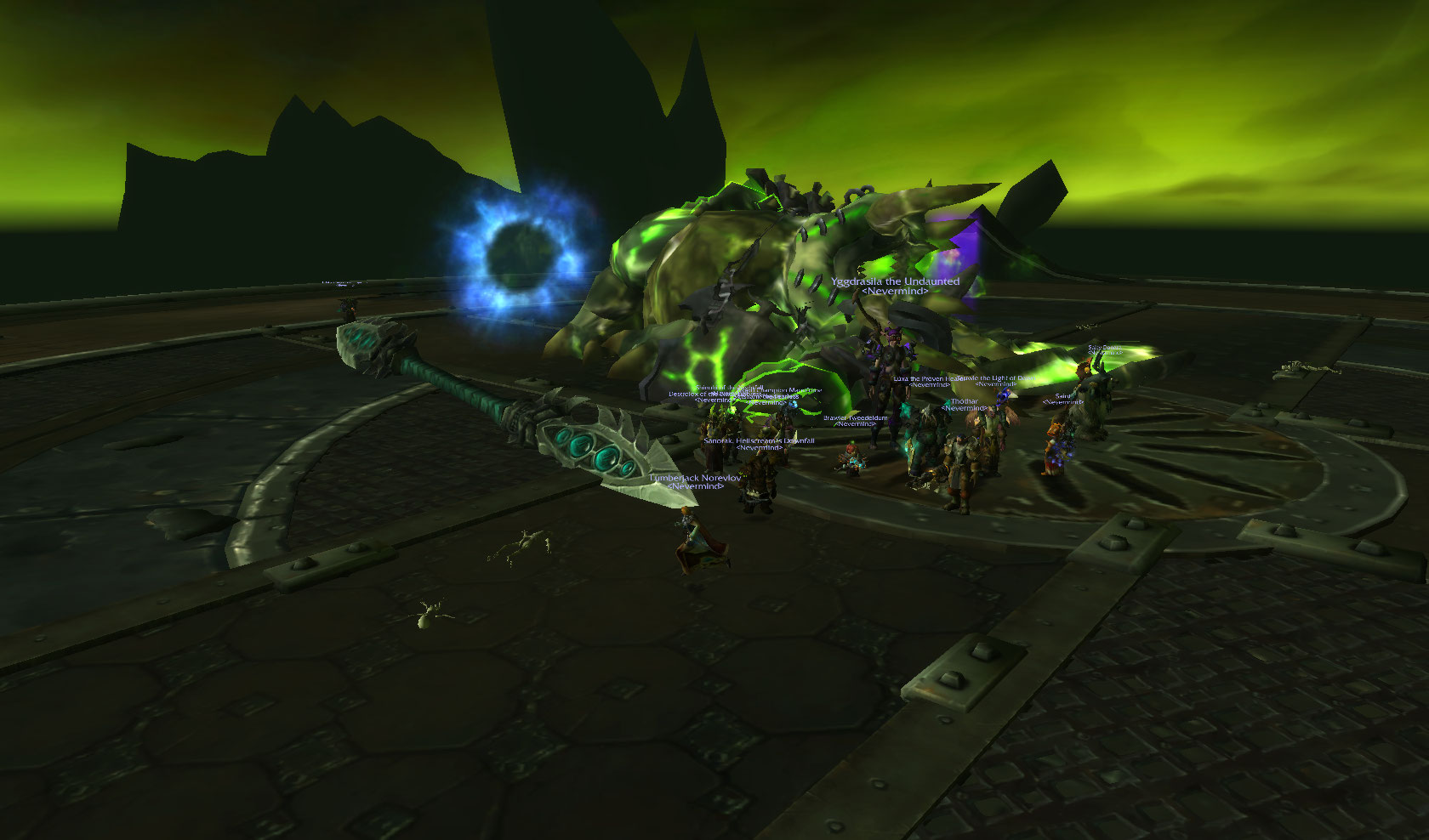 Team Fire finished Grommash's job…Mannoroth is finally dead! Onto Heroics!